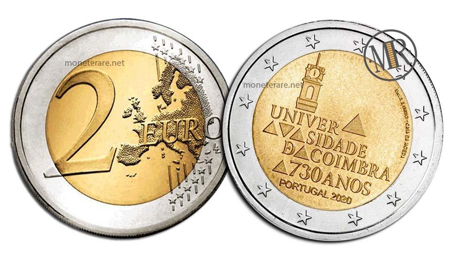 2 Euro Commemorativi Portogallo 2020 Università di Coimbra