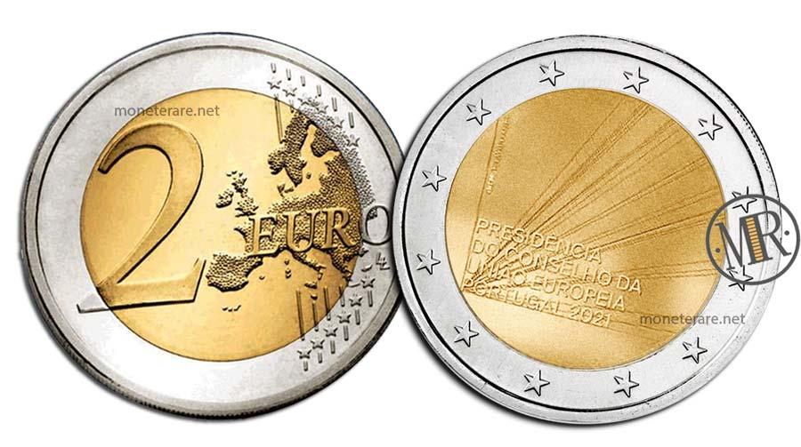 2 Euro Commemorativi Portogallo 2021 Presidenza del Consiglio
