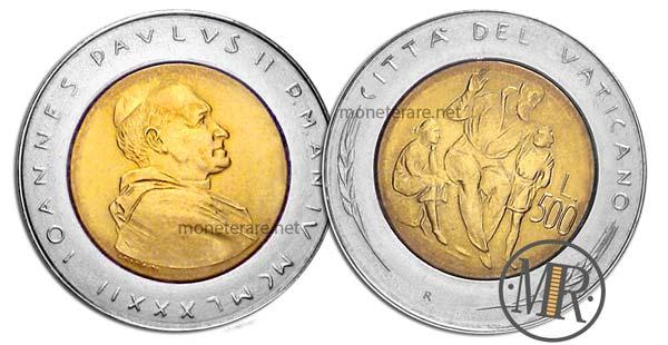 500 Lire Bimetalliche Vaticano 1982 Educazione
