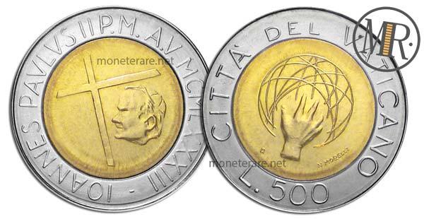 500 Lire Bimetalliche Vaticano 1983 Universo