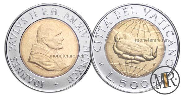 500 Lire Bimetalliche Vaticano 1992 Pane