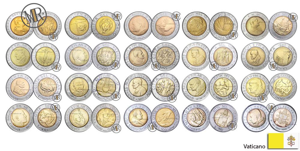500 Lire Bimetalliche Vaticano