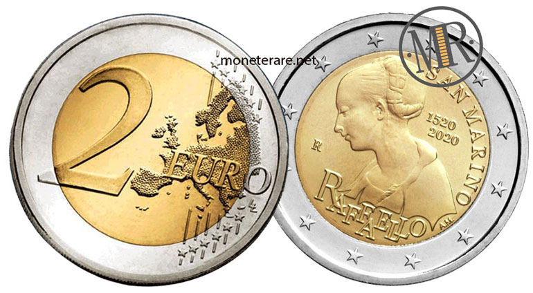 2 Euro Commemorativi San Marino 2020 Raffaello Sanzio