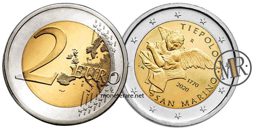 2 Euro Commemorativi San Marino 2020 Tiepolo