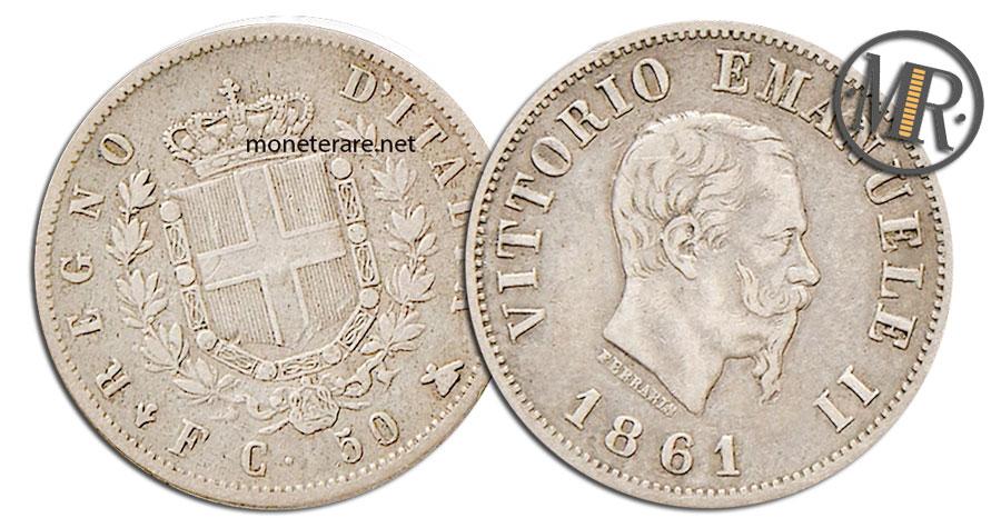 50 Centesimi Lire Vittorio Emanuele II 1863