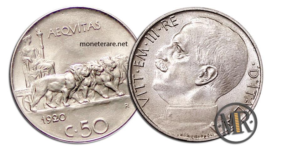 50 Centesimi di Lira Vittorio Emanuele III 1920