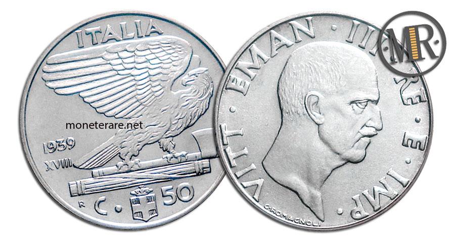 50 Centesimi Lire Vittorio Emanuele III 1919