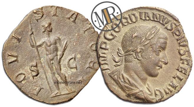 Sesterzio Gordiano I e Virtus