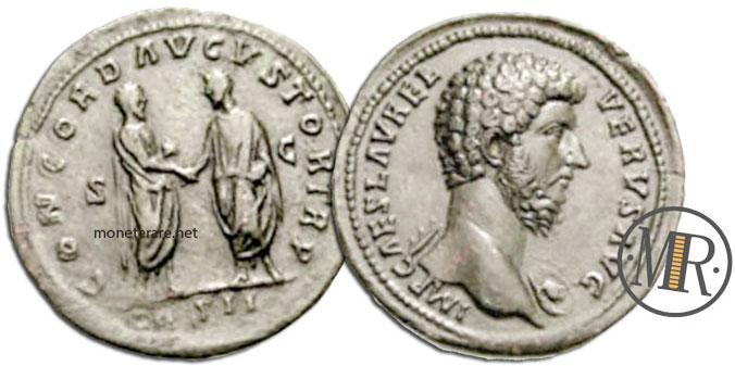 Sesterzio Marco Aurelio e Lucio Vero