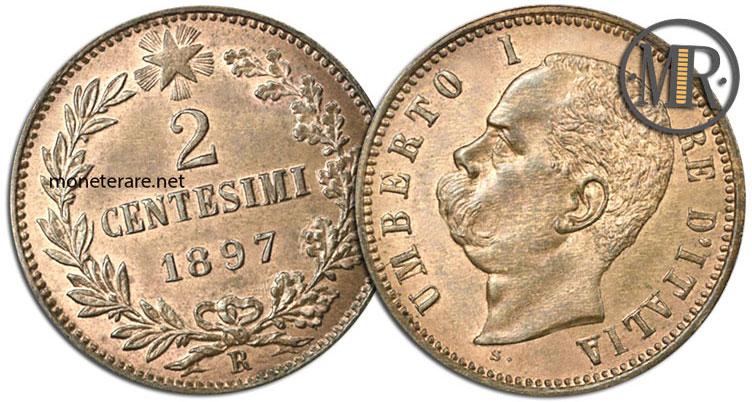 2 Centesimi di Lire Umberto I 1897