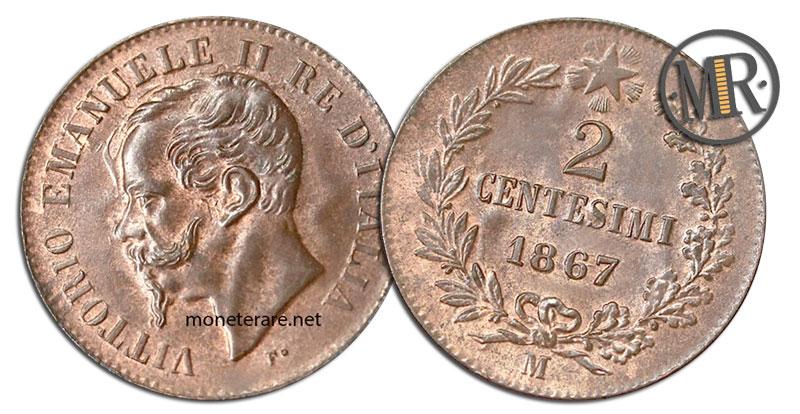 2 Centesimi di Lire Vittorio Emanuele II 1867