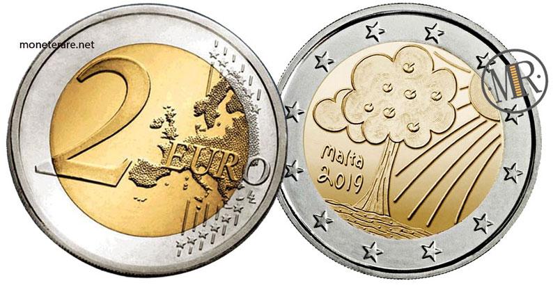 2 Euro Malta 2019 Coin - Nature and environment - value