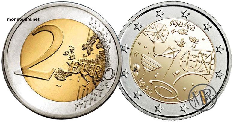 2 Euro Commemorativi Malta 2020 Giochi