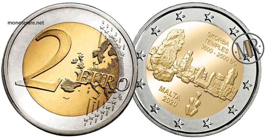 2 Euro Commemorativi Malta 2020 Templi di Skorba