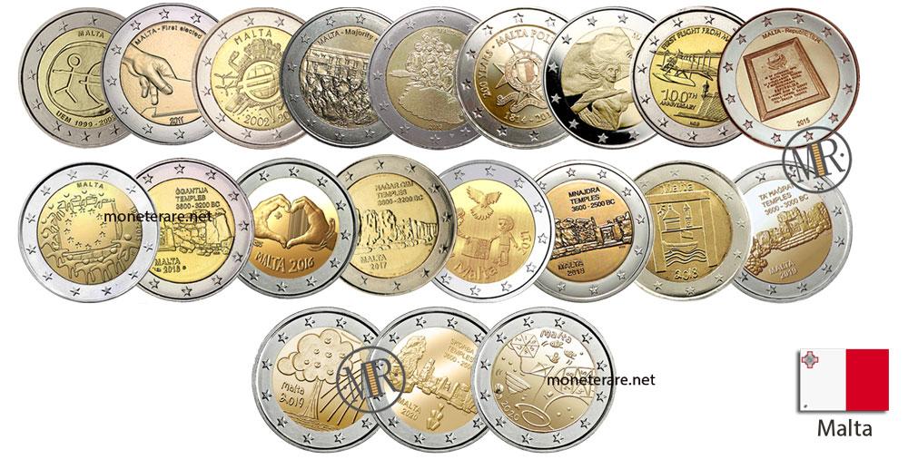 2 Euro Malta Commemorative Coins