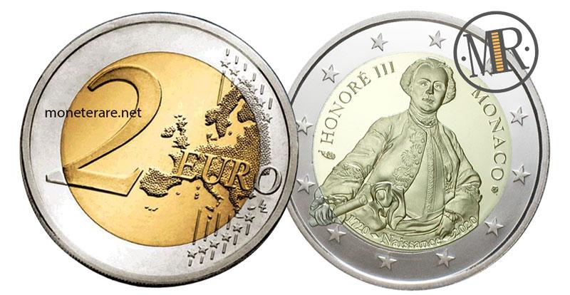 2 Euro Commemorativi Monaco 2020