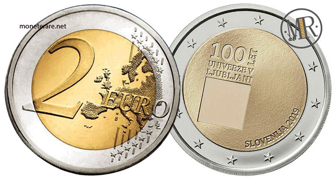 2 Euro Commemorativi Slovenia 2019 Università