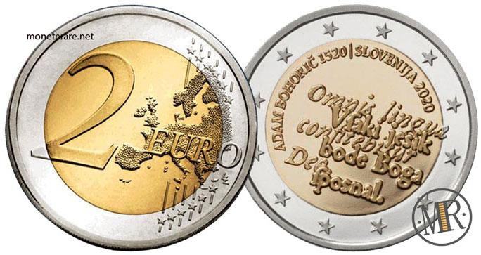 2 Euro Commemorativi Slovenia 2020 Adam Bohoric