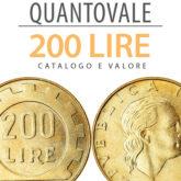 """""""QuantoVale"""" 200 Lire Repubblica Italiana"""