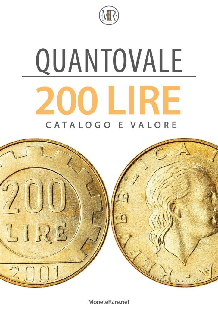quanto vale 200 lire repubblica italiana