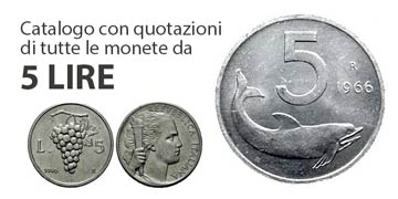 5 lire rare italiane valore e catalogo