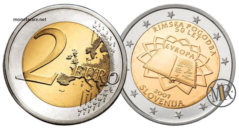 2 Euro Commemorativi Slovenia 2007 Trattati di Roma