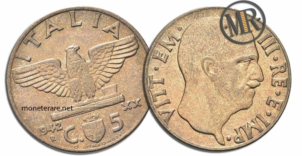 5 Centesimi Vittorio Emanuele III Impero Secondo Tipo - valore della moneta rara