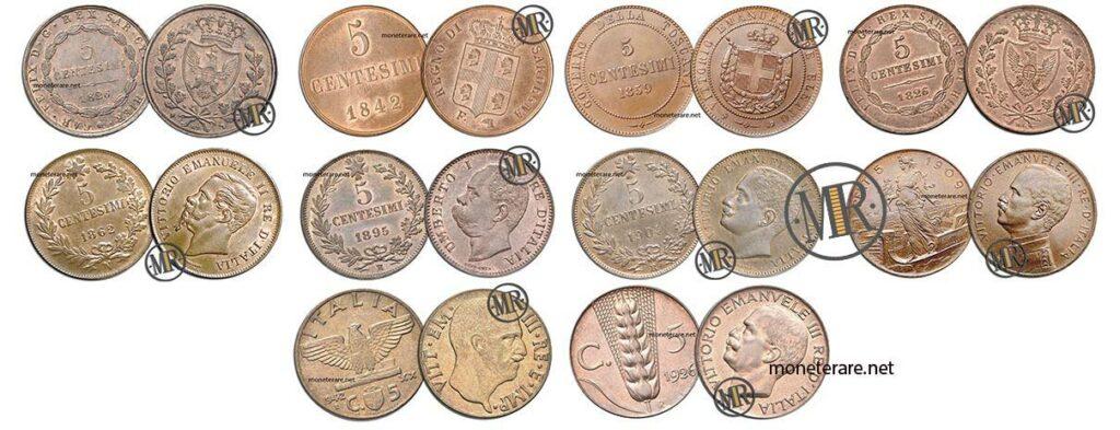 5 Centesimi di Lire