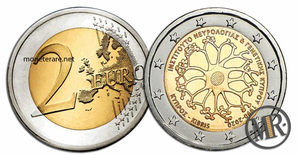 2 Euro Commemorativi Cipro 2020 Neurologia e Genetica