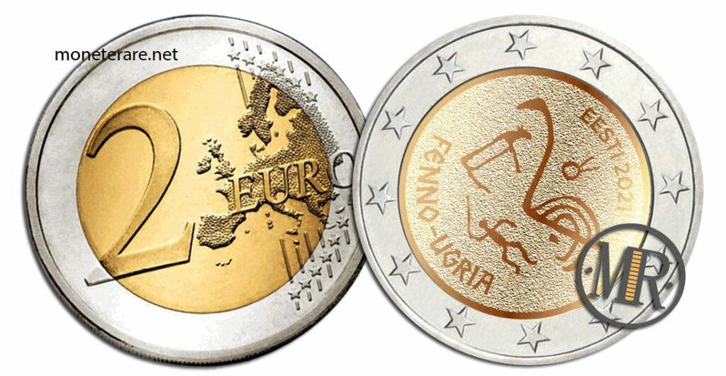2 Euro Commemorativi Estonia 2021 Popoli Ugrofinnici