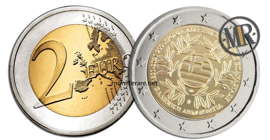 2 Euro Commemorativi Grecia 2021 Rivoluzione Greca