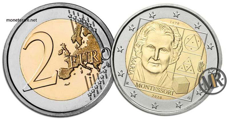 2 Euro Italy 2020 – Maria Montessori