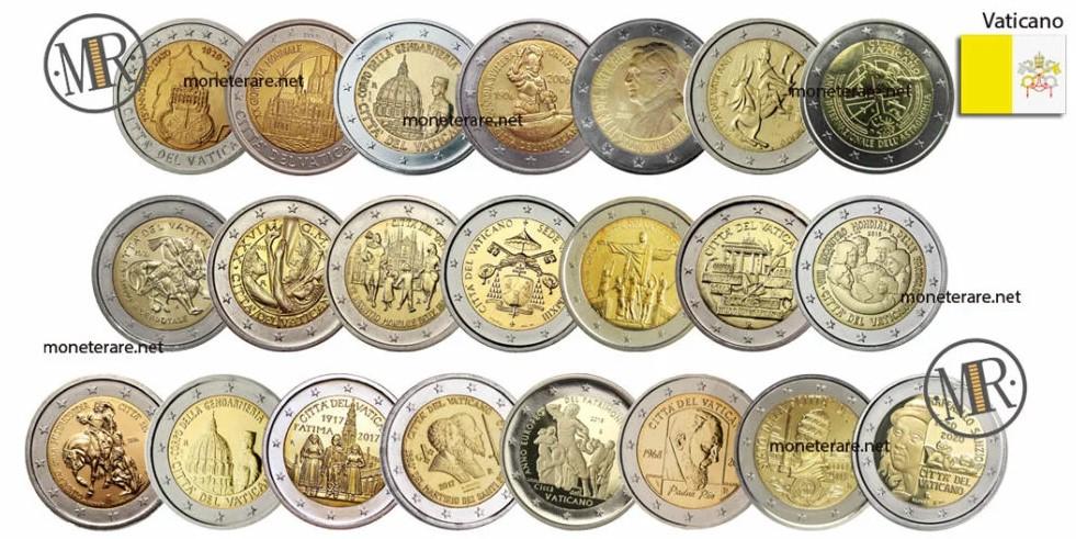 2 Euro Commemorative Vatican City State Coins