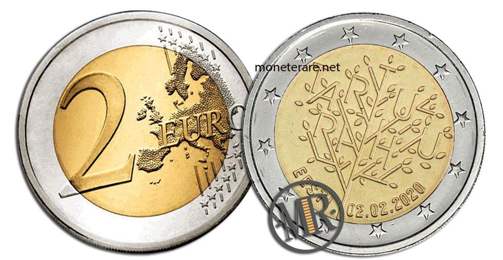 2 Euro Commemorativi Estonia 2020 Trattato di Tartu