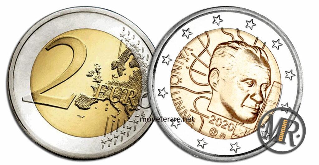 2 Euro Finland 2020 Coin - Väinö Linna