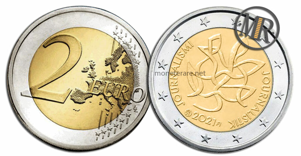 2 Euro Finland 2021 Coin - Journalismi Journalistik