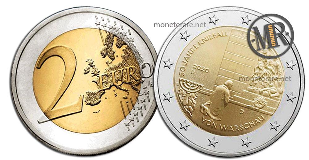 2 Euro Commemorativi Germania 2020 La Genuflessione di Varsavia