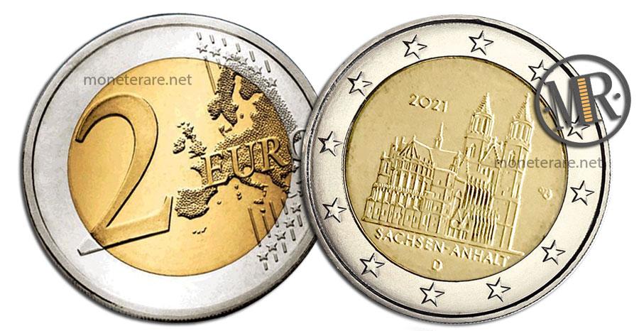 2 Euro Commemorativi Germania 2021 Duomo di Magdeburgo