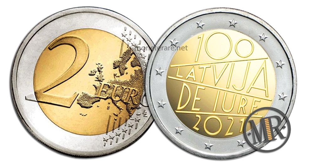 2 Euro Latvia 2021 - 100 Latvija DE JURE