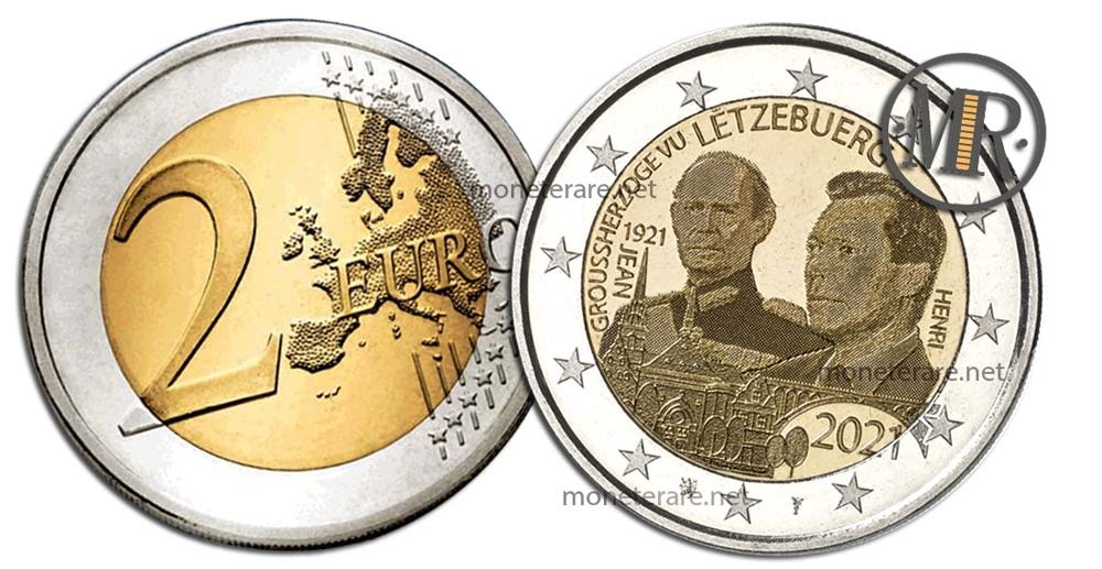 2 Euro Luxembourg 2021 - 1921 Jean Hologram