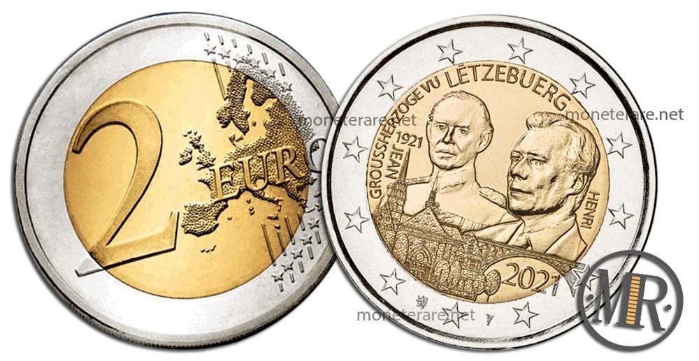 2 Euro Luxembourg 2021 - 1921 Jean