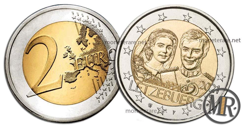 2 Euro Luxembourg 2021 - Wedding Henry and Maria Teresa (Luxembourg - Letzebuerg)