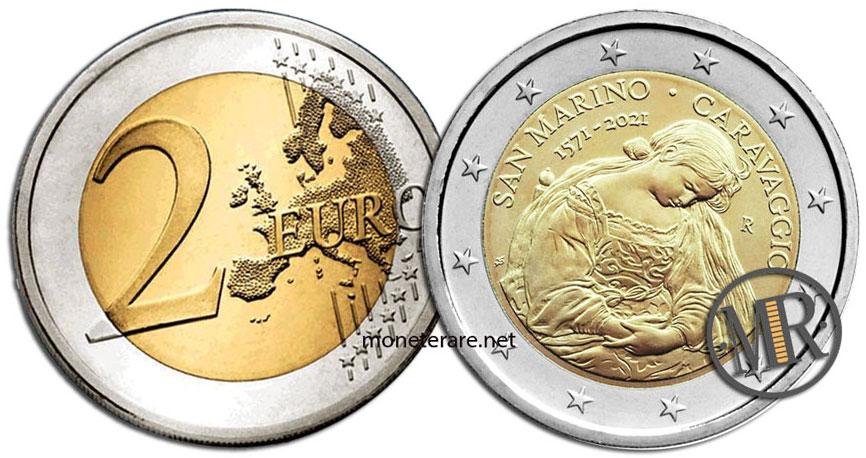 2 Euro San Marino 2021 Coin - Caravaggio