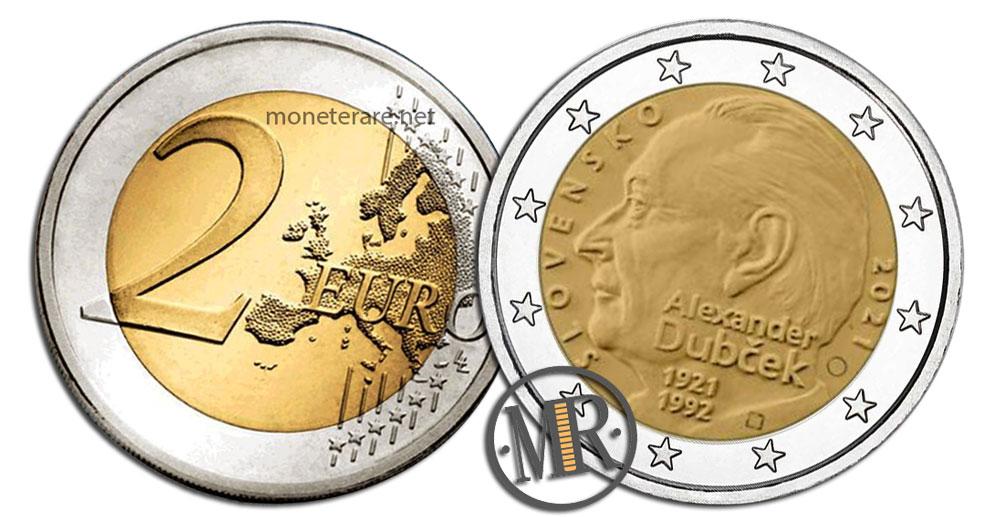 Slovakia 2 Euro Coins 2021 - Alexander Dubček
