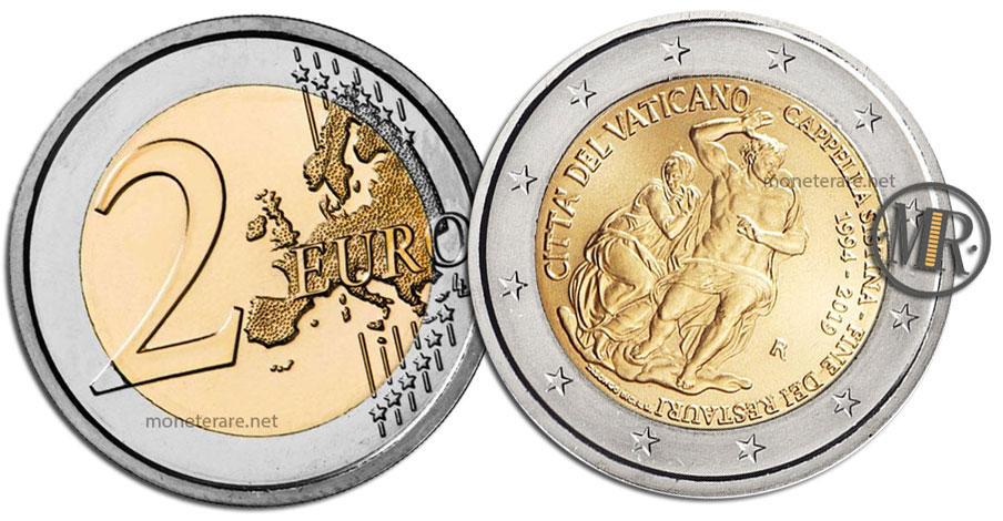 2 Euro Vatican 2019 Commemorative Coin Restoration of Cappella Sistina