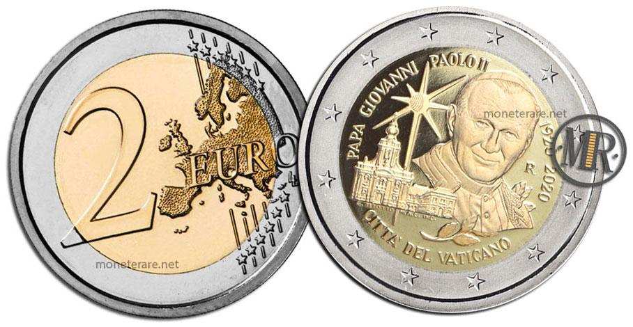 2 Euro Vatican 2020 Commemorative Coin Giovanni Paolo II