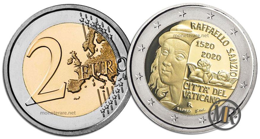 2 Euro Vatican 2020 Coin - 500 Years since the Death of Raffaello Sanzio