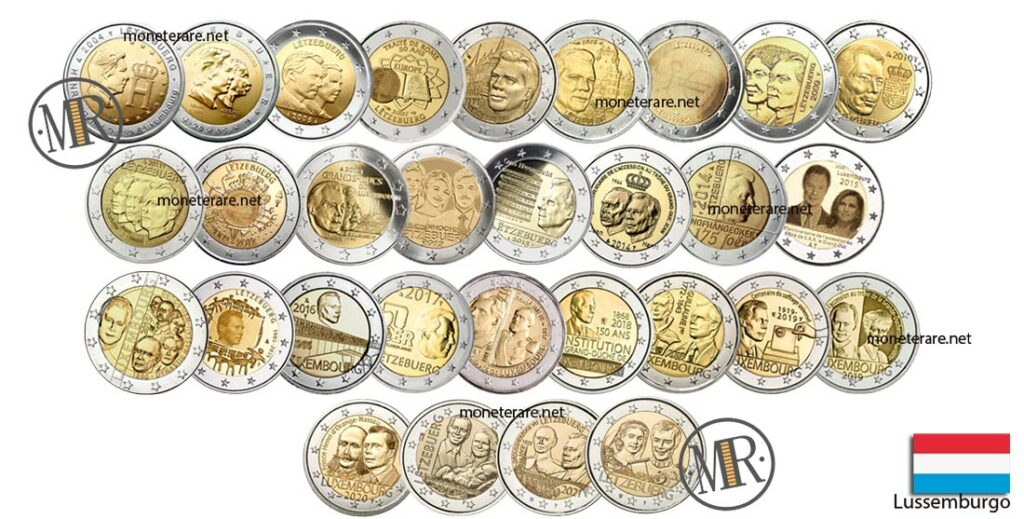 Luxembourg 2 Euro Coins (Luxembourg - Letzebuerg)