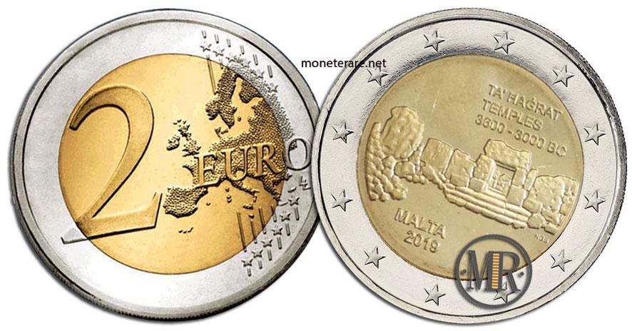 2 Euro Malta 2019 Coin - Temples of Ta Hagrat