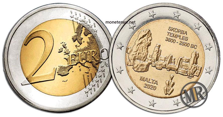 2 Euro Malta 2020 Coin - Temples of Skorba